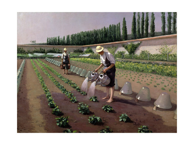 The Gardeners Giclee Print by Gustave Caillebotte