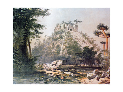 View of El Castillo, 1844 Giclee Print by Frederick Catherwood