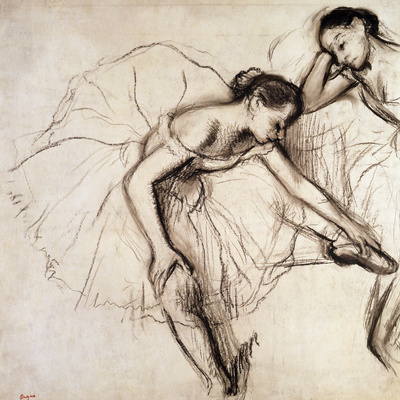 Two Dancers Resting Giclee Print by Edgar Degas