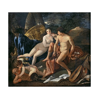 Venus and Mercury, C.1627-29 Giclee Print by Nicolas Poussin