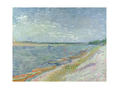 Moored Boats, 1887 Giclee Print by Vincent van Gogh