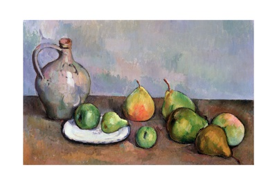 Still Life with Pitcher and Fruit, 1885-87 Lámina giclée por Paul Cézanne