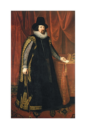 Sir Francis Bacon (1561-1626) Baron Verulam of Verulam, Viscount St. Albans Giclee Print by Paul van Somer