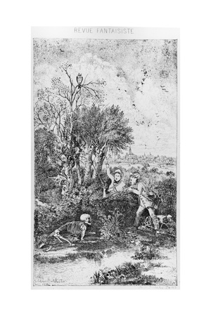The Hunters Overtaken by Death, 1857 Giclee Print by Rodolphe Bresdin
