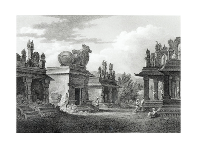 Pagodas at Calicut, Engraved by W. Angus Giclee Print by Henry Salt