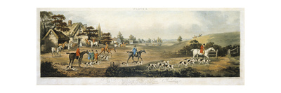 Foxhunting, Plate 4, Engraved by Thomas Sutherland (1785-1838) 1817 Giclee Print by Dean Wolstenholme