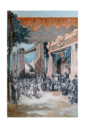 Illustration from 'Michel Strogoff' by Jules Verne (1828-1905) Giclee Print by Hippolyte Leon Benett
