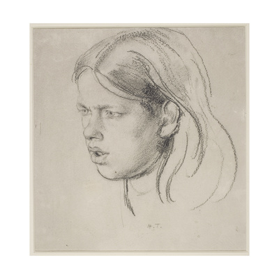 Head of a Girl Giclee Print by Henry Tonks