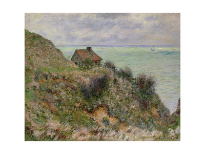 The Customs Officers' Hut at Pourville, 1882 Giclee Print by Claude Monet
