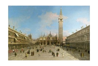 Piazza San Marco Looking Towards the Basilica Di San Marco Giclee Print by  Canaletto