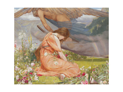 The Garden of Adonis- Amoretta and Time, 1887 Giclee Print by John Dickson Batten
