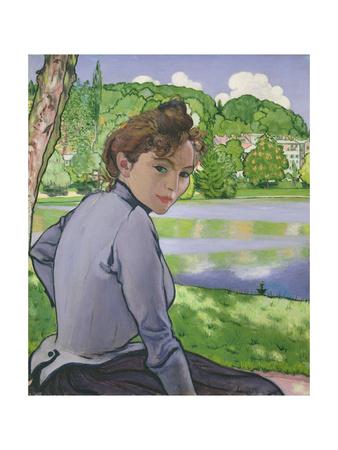 Woman Beside a Lake, 1889 Giclee Print by Louis Anquetin