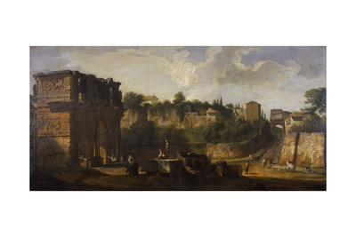A View of the Arches of Constantine and of Titus, Rome Giclee Print by Giovani Paolo Panini
