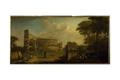 A View of the Colosseum, Rome Giclee Print by Giovani Paolo Panini