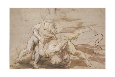 Two Men Wrestling Giclee Print by Peter Paul Rubens
