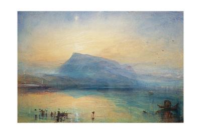 The Blue Rigi: Lake of Lucerne - Sunrise, 1842 Giclee Print by J. M. W. Turner