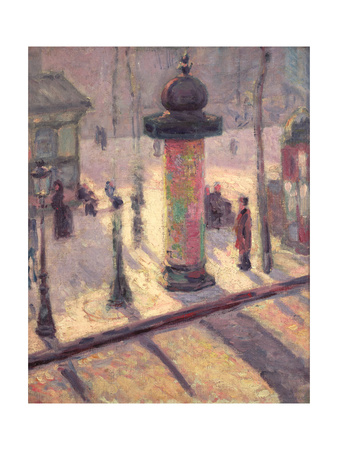 Kiosk on the Boulevard Clichy, 1886-7 Giclee Print by Louis Anquetin