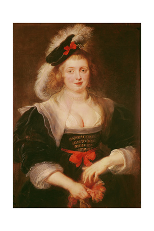 Portrait of Helene Fourment with Gloves, C.1632 Giclee Print by Peter Paul Rubens