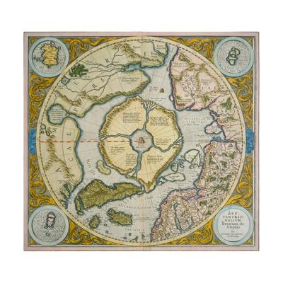 Septentrionalium Terrarum Descriptio, 1595 Giclee Print by Gerardus Mercator