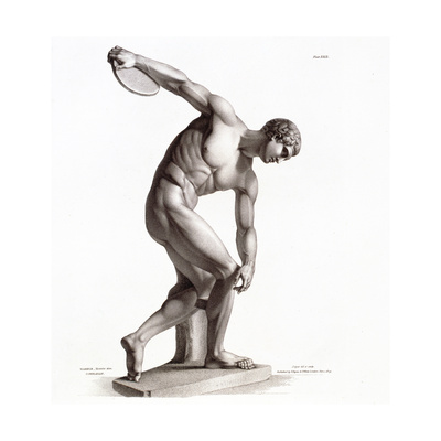 One of the Antient Copies Extant of the Discobolus, from 'The Specimens of Antient Sculpture,… Giclee Print