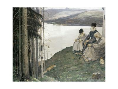 A Litte Fox Giclee Print by Mikhail Vasilievich Nesterov