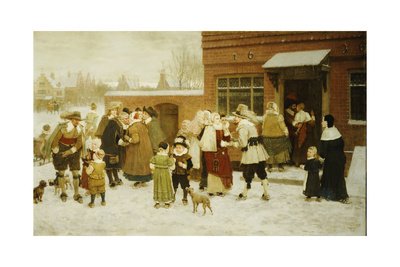 New Year's Day, New Amsterdam, 1876 Giclee Print by George Henry Boughton