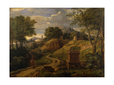 Classical Landscape with a Woman Carrying a Child, C.1650-75 Giclee Print by Jean Francois I Millet