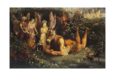 Titania and Bottom, from a Midsummer Night's Dream Giclee Print by John Anster Fitzgerald
