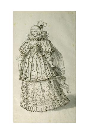 Masquer, C.1638 Giclee Print by Inigo Jones