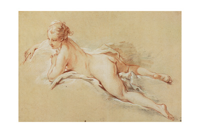 Recumbent Nude Giclee Print by Francois Boucher