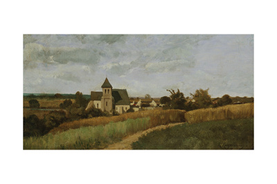 A Village at Harvest Time Giclee Print by Henri-Joseph Harpignies