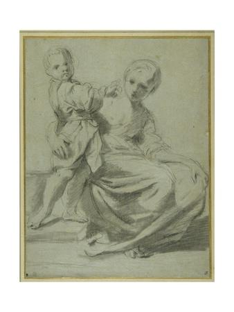 Madre e hijo Lámina giclée por Bartolomeo Schedoni