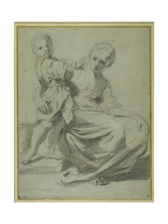 Mother and Child Giclee Print by Bartolomeo Schedoni