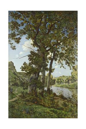 The Oaks of Chateau-Renard, 1875 Giclee Print by Henri-Joseph Harpignies