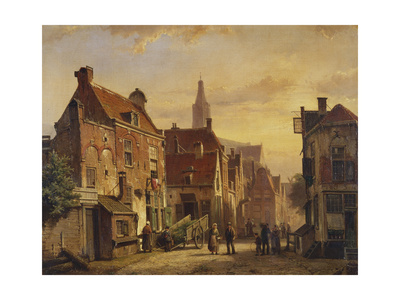 Dutch Street Scene Giclee Print by Willem Koekkoek