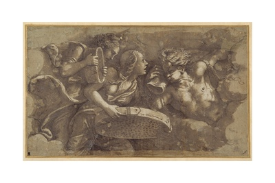 The Vestal Tuccia with the Sieve Giclee Print by Giulio Romano