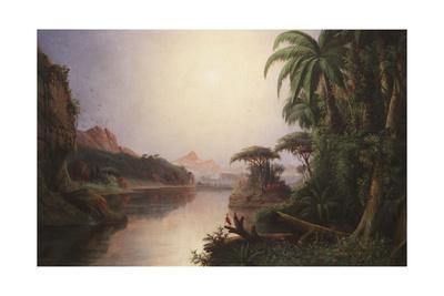 Tropical Landscape Giclee Print by Norton Bush