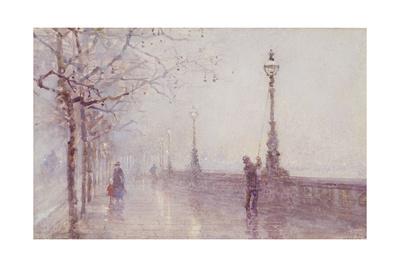 The Last Lamp, Thames Embankment, 1892 Giclee Print by Rose Maynard Barton