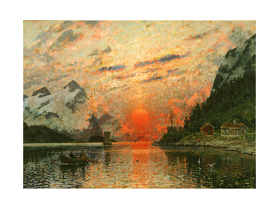 A Fjord Giclee Print by Adelsteen Normann