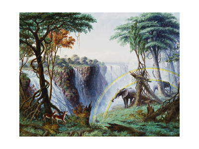 The Mosi-O-A-Tunya (Smoke Resounding) or Victoria Falls, Zambesi River, 1874 Giclee Print by Thomas Baines