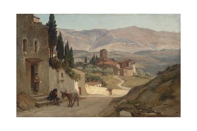 Near Perugia, 1870 Giclée-Druck von Elihu Vedder