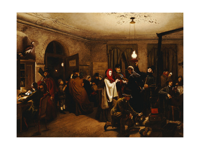 The Departure for America, 1859 Giclee Print by Felix Schlesinger