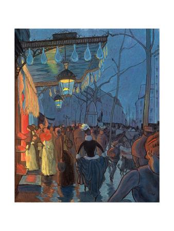 Avenue De Clichy, Paris, 1887 Giclee Print by Louis Anquetin