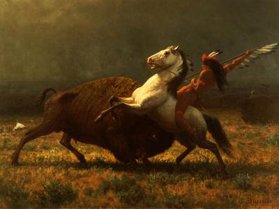 The Last of the Buffalo, C.1888 Giclee Print by Albert Bierstadt
