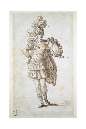 Knight or Squire Bearing a Shield Giclee Print by Inigo Jones