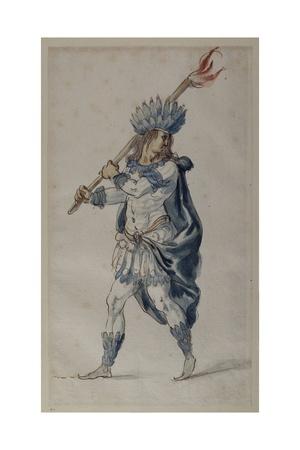 Torchbearer: an Indian Giclee Print by Inigo Jones