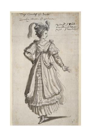 Queen Zenobia, C.1609 Giclee Print by Inigo Jones