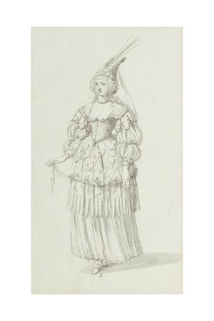 Chloris: Alternative Sketch for Henrietta Maria, C.1631 Giclee Print by Inigo Jones