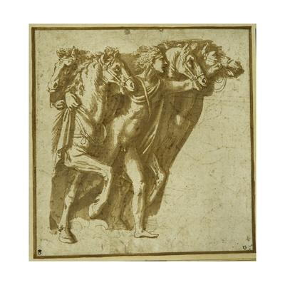 Dawn: Apollo with the Horses of the Sun Giclee Print by Giulio Romano
