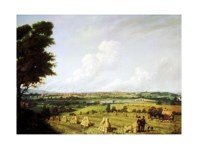 View of Preston from Penwortham Mill, 1821 Giclee Print by John Jenkinson